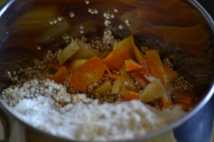 Healthy Quinoa Breakfast -Quinoa ginger orange crepe ingredients