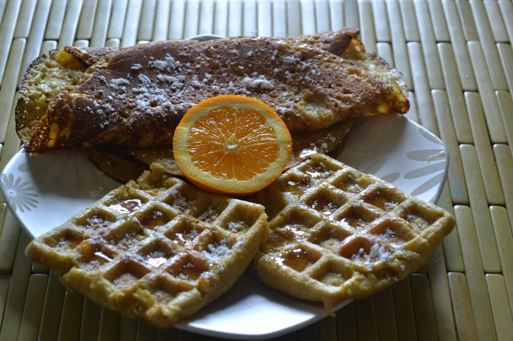 Healthy Quinoa Breakfast - Quinoa Ginger Orange Crepe/Waffle