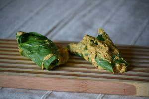 Spinach Patrode - Before steaming